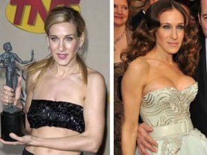 Sarah Jessica Parker- Before & After Images- Boob Job