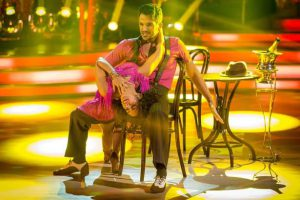 Janette Manrara dancing with Peter Andre on Strictly Come Dancing with her new boob job